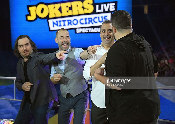 Brian Quinn, James Murray, Joe Gatto, and Sal Vulcano speak during Impractical Jokers Live: Nitro Circus Spectacular at Prudential Center on November 3, 2016 in Newark, New Jersey. JPG