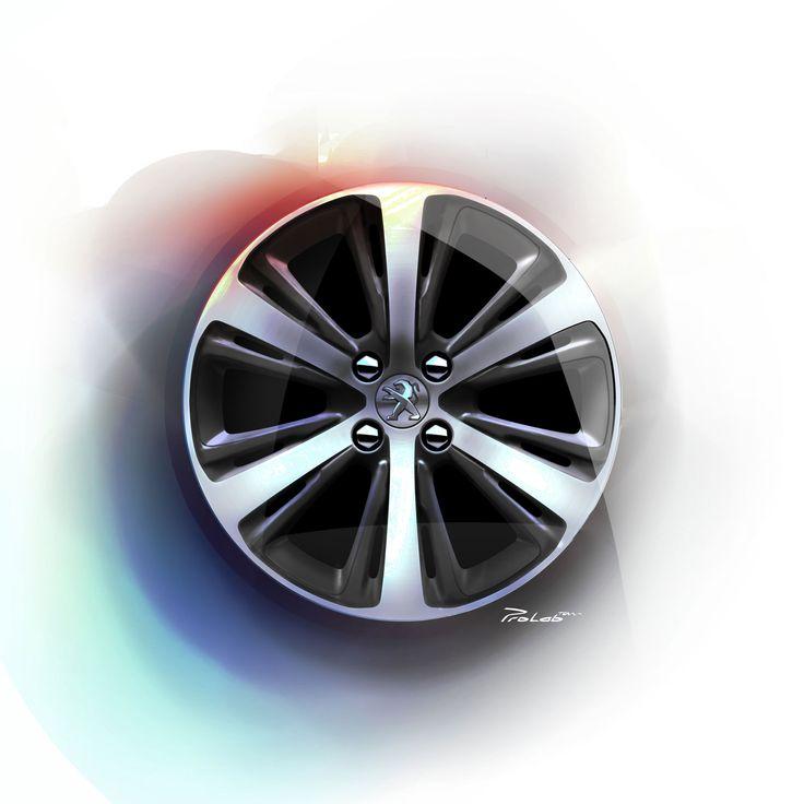 Peugeot 208 XY Wheel Design Sketch