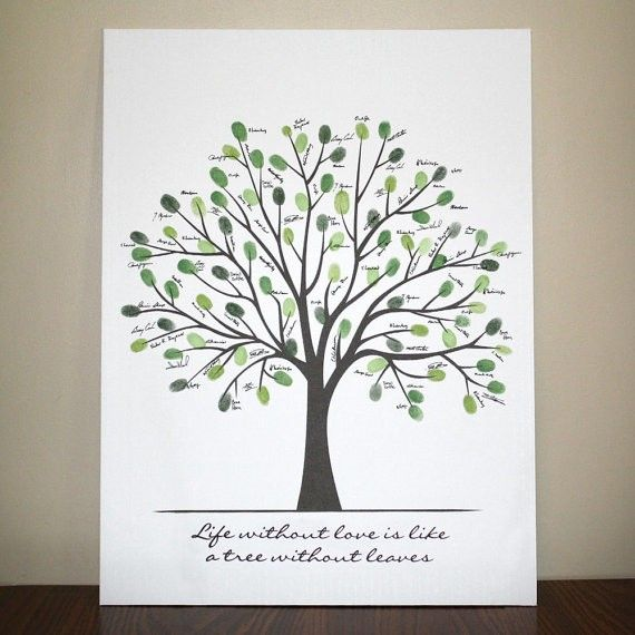 Life without love, is like a tree without leaves..Below the quote have our names and the wedding date.