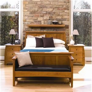 Master Bedroom - love the mission style furniture