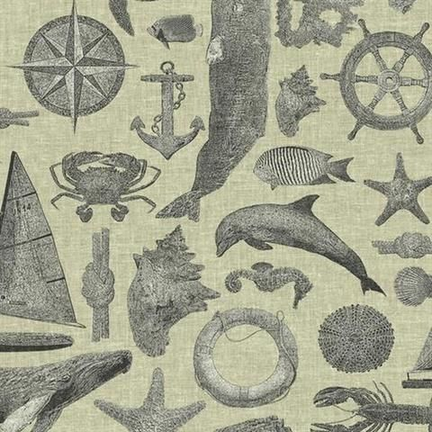 Ny4819 Nautical Living Wallpaper Book By York
