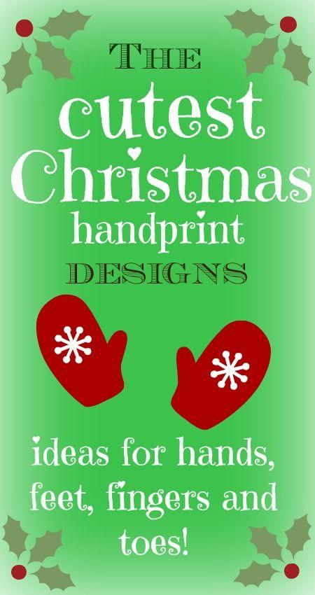 Lots of super cute handprint crafts - Father Christmas, snowmen, reindeer, angels...love