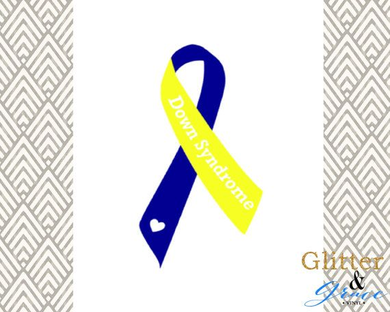 Share the love and spread the awareness of Down Syndrome with this beautiful ribbon decal