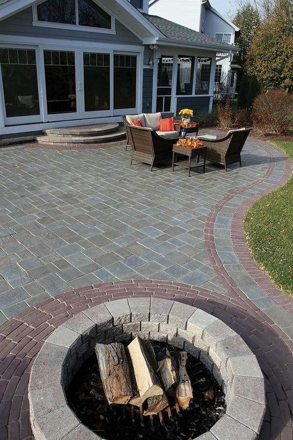 red gray pavers patio decoration ideas deck flooring garden landscape