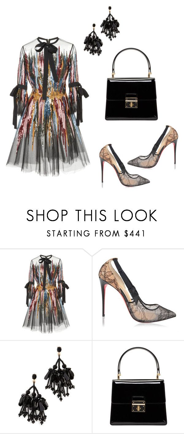 """Untitled #1604"" by steflsamour ❤ liked on Polyvore featuring Elie Saab, Christian Louboutin, Oscar de la Renta and Dolce&Gabbana"