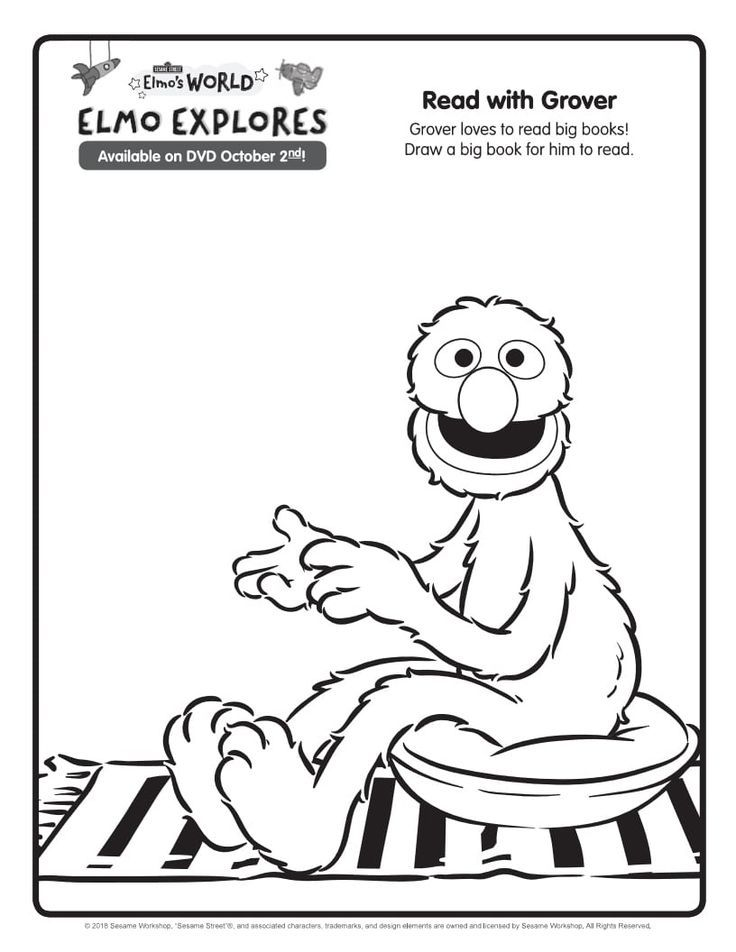 Grover Coloring Page Sesame Street Printable Coloring Pages