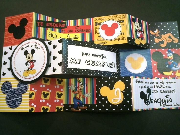 Invitaciones - Mickey Mouse Themed party