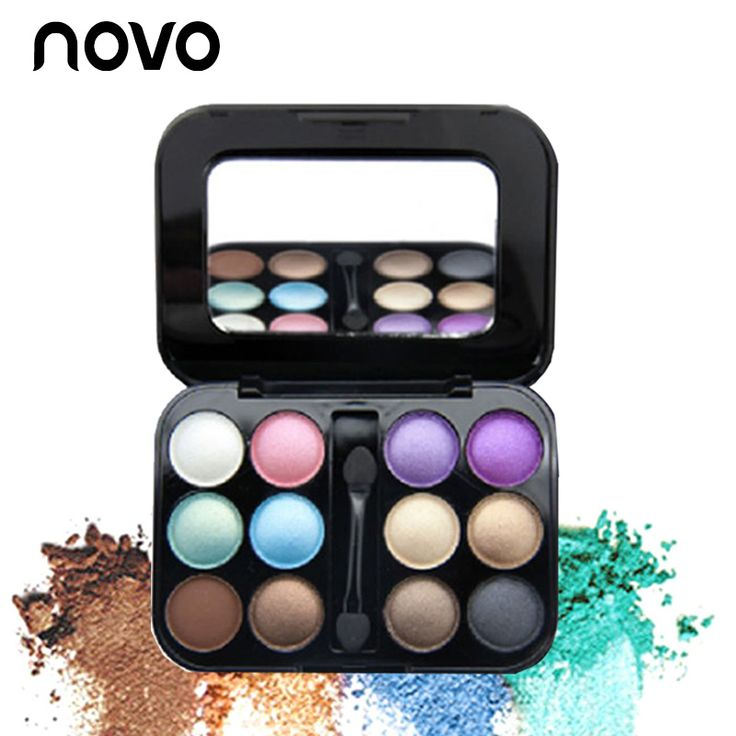 NOVO 12 Make Up Eyeshadow Pallete makeup Naked Shimmer highlighter eyeshadow Paleta De Sombras Matte Eye Shadow Palette #Affiliate