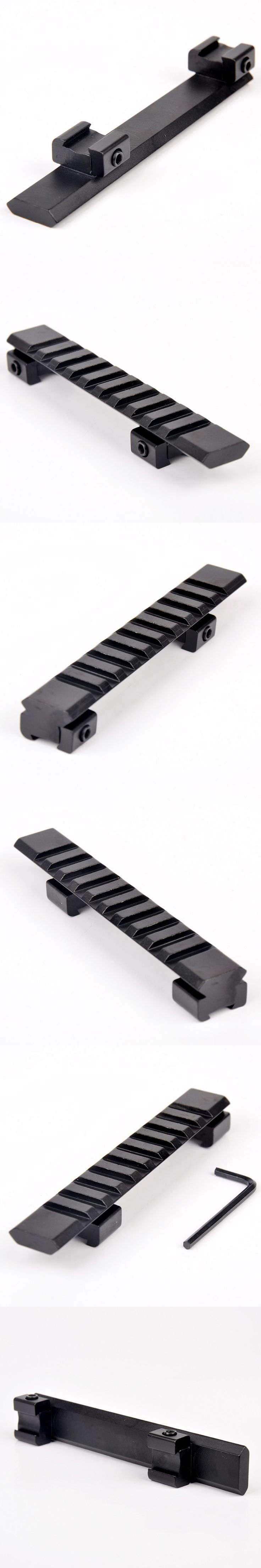 11mm Picatinny Rail Adapter Weaver Carril Guide with 10 slots and 125mm Length For Air Gun Scope Mount #2689