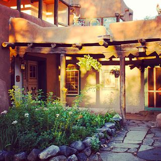 entrance to the historic mabel dodge luhan house in taos new mexico. Cars Review. Best American Auto & Cars Review