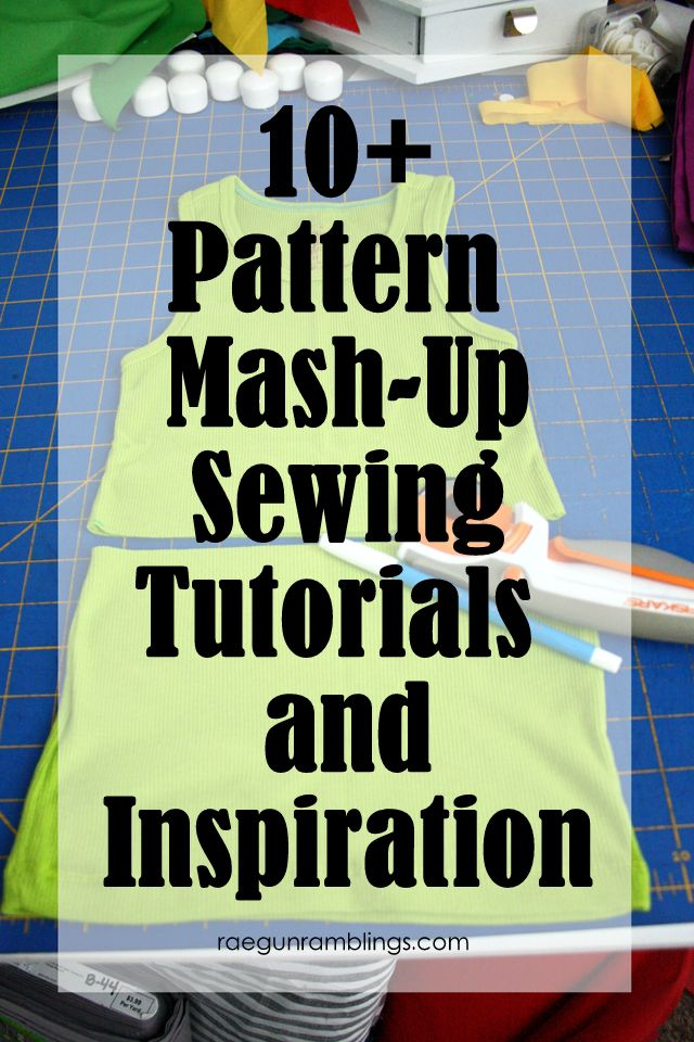 Take two patterns and make something new. Great DIY sewing mash-ups idea and tutorial - Rae Gun Ramblings