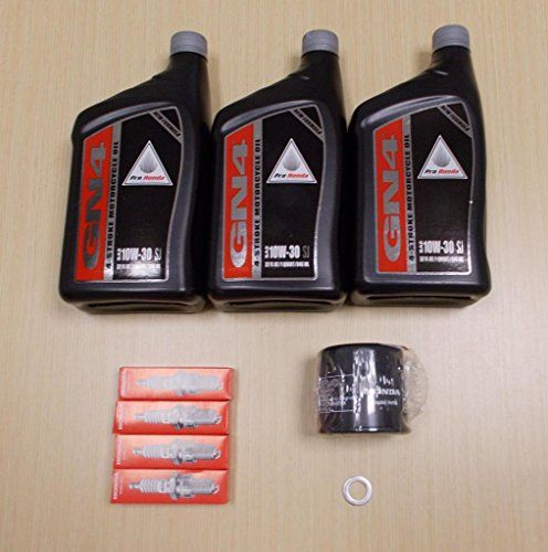 New 1999-2007 Honda VT 600 VT600 Shadow VLX OE Basic Oil Service Tune-Up Kit  This listing is for a Brand NewBasic Service Tune-Up kit forthe HondaShadow VLX VT600C/CD year models 1999-2007. The kit includes the needed amount of Oil, Oil Filter, Spark Plugs and Drain Plug Washer. These items are all OE Genuine Honda Products. They are not Aftermarket. They are Brand New OE Honda.      KIT INCLUDES:     3QTS GN4 Honda 10w-30 Oil   1 Honda Oil Filter   4Honda Spark Plugs   1Drai..