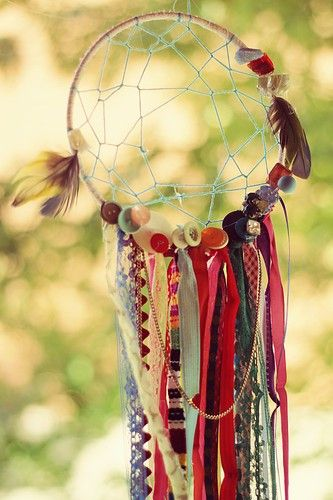 Cute idea for a baby shower or wedding shower! Ask guest to bring a strip of fabric, feather or a trinket that reminds them of the family/couple. Use them to create a dream catcher for babies room or couples home.