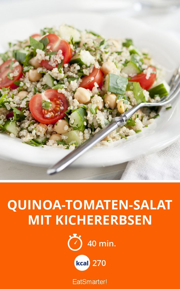 Quinoa-Tomaten-Salat mit Kichererbsen