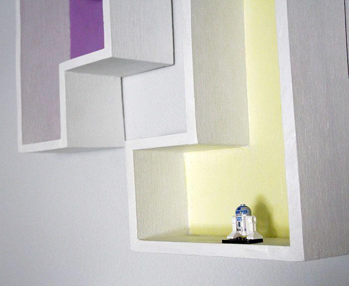 Geeky Home Decor: DIY Tetris Shelves