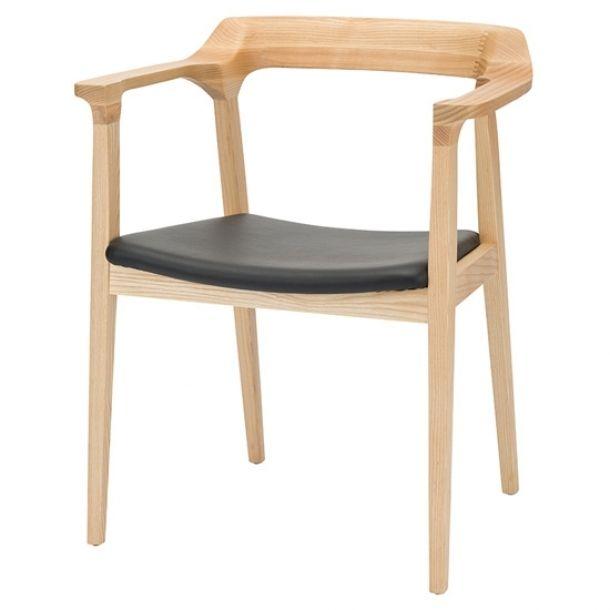 Caitlan Black Leather Dining Chair   Memoky.com