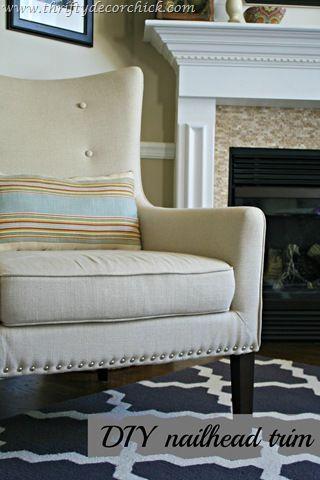 DIY Nailhead Trim on Upholstery
