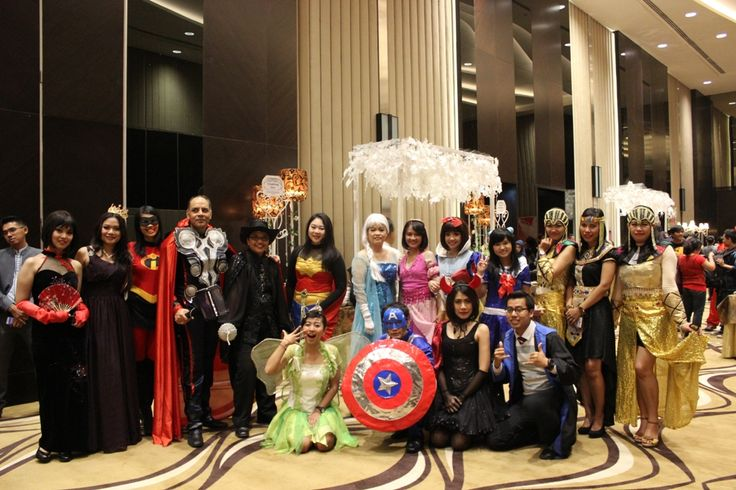 Thor, Wonder Woman, princess Elsa, Snow White, Captain America , etc all gathering up #LifeAtIHG