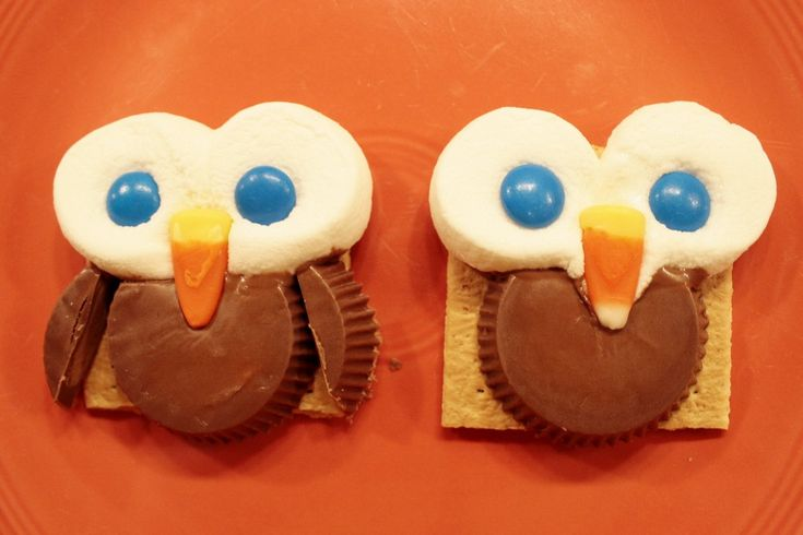 Simple owl s'mores