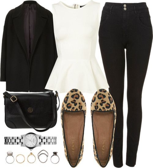 Love love love this outfit.  Those pants. That peplum!!