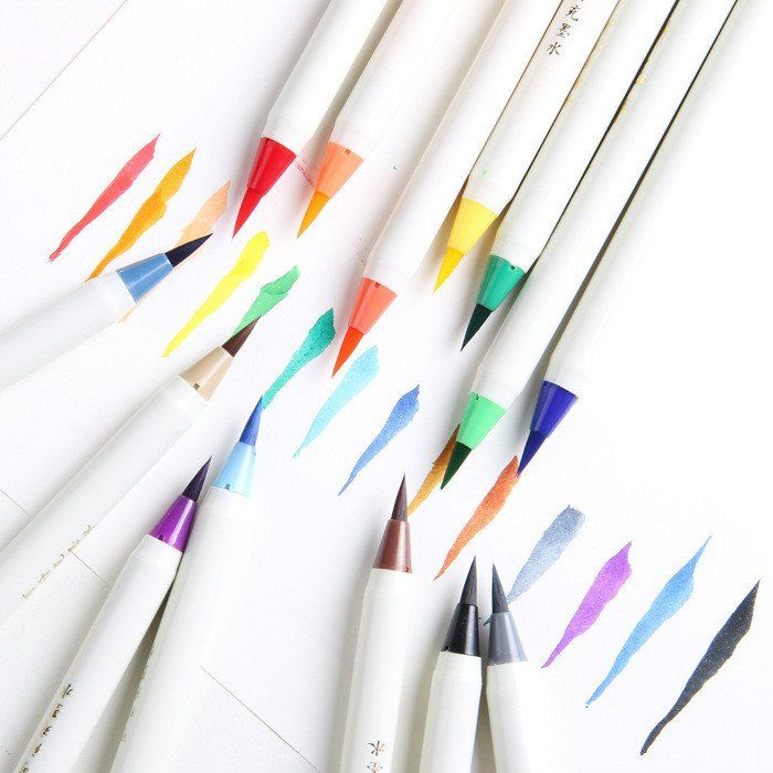 Soft Brush Calligraphy Pen Watercolor Marker Brush Fineliner