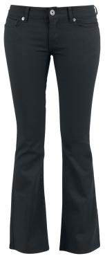 "Black Premium by EMP Cloth Trousers, Women ""Corded Extra Boot"" black • EMP"