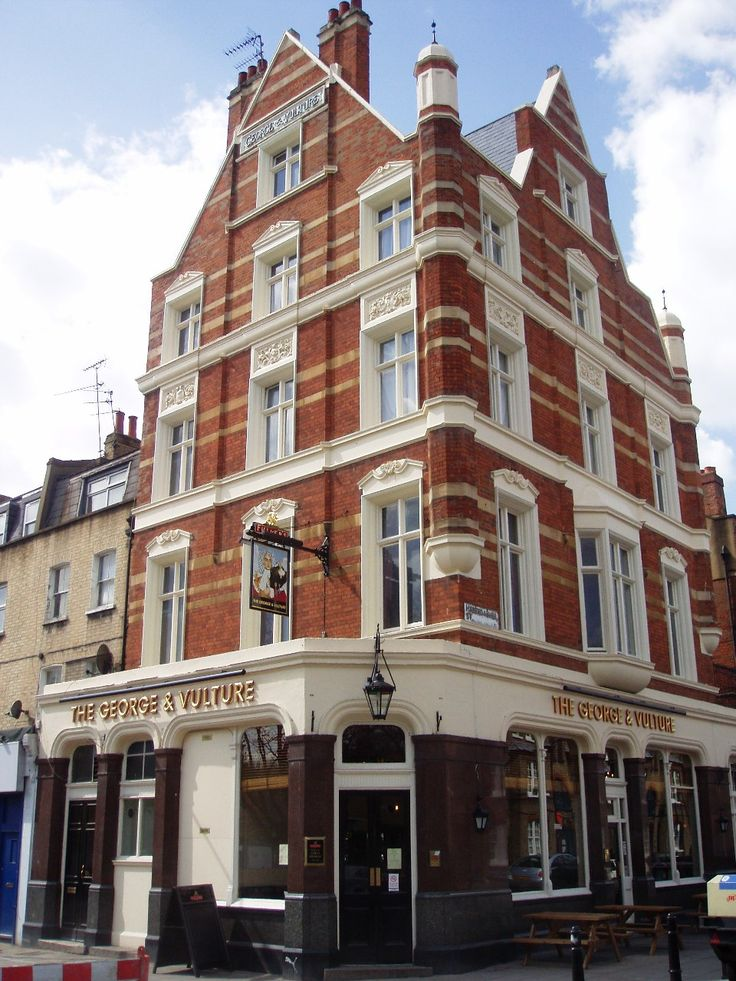 George & Vulture, Hoxton. Tallest pub in London. Sunday roast £15 - £16.50.