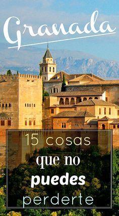 15 cosas que ver y hacer si vas a Granada #Granada #Spain #Alhambra #Travel