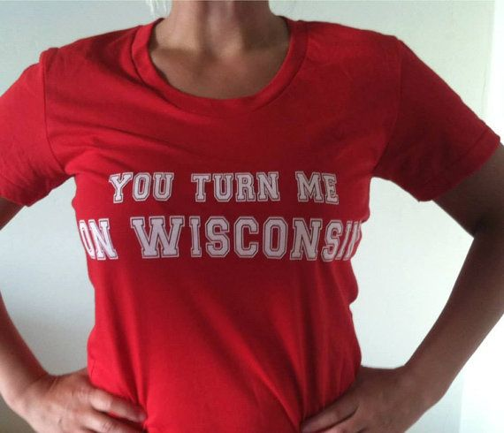 SALE University of Wisconsin Badgers Shirt by FerDaFans on Etsy