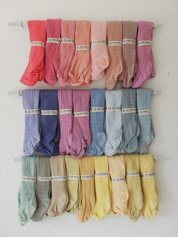 6-12 mois main teint bébé collants dans une gamme de couleurs magnifique !