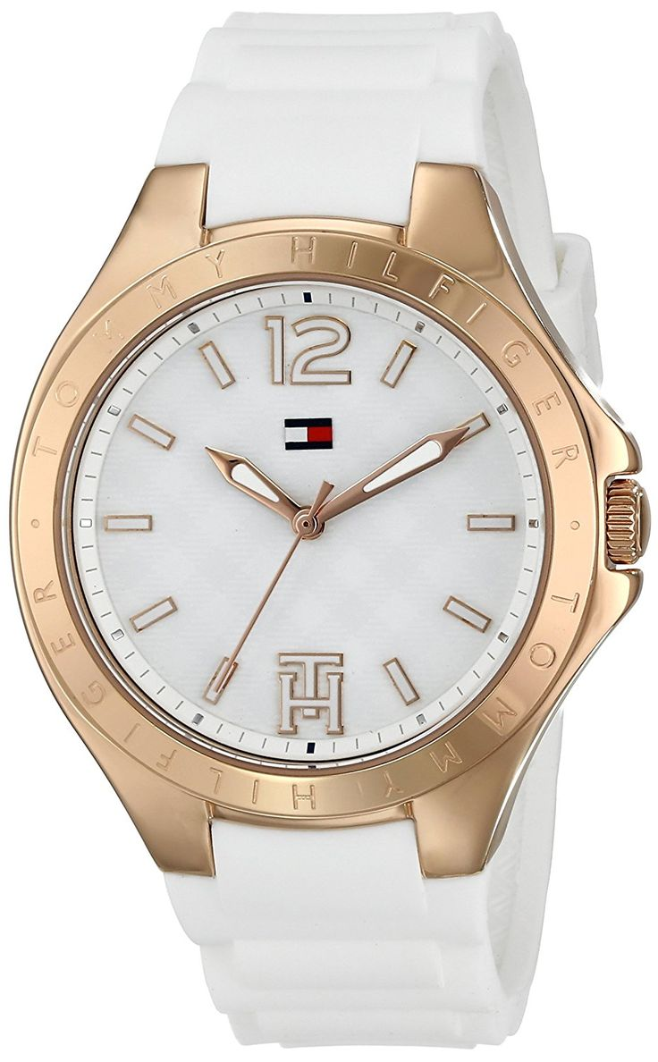 Tommy Hilfiger Women's 1781383 Analog-Display Watch with Rose-Gold Bezel * Be sure to check out this awesome watch.