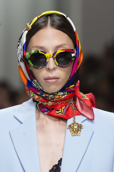 243a1e7fd66 Versace at Milan Fashion Week Spring 2018 - Details Runway Photos Gucci  Sunglasses