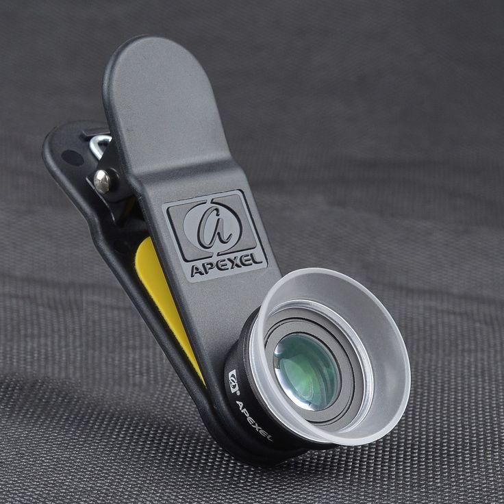 APEXEL Phone Lens, 2 in 1 12X Macro + 24X Super Macro Camera Lens Kit for iPhone Samsung Xiaomi Red Android Smartphones 24XM