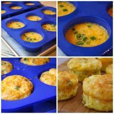 Яичные Кексы Рецепт для Grab и Go завтрак (Low-Carb, без глютена)