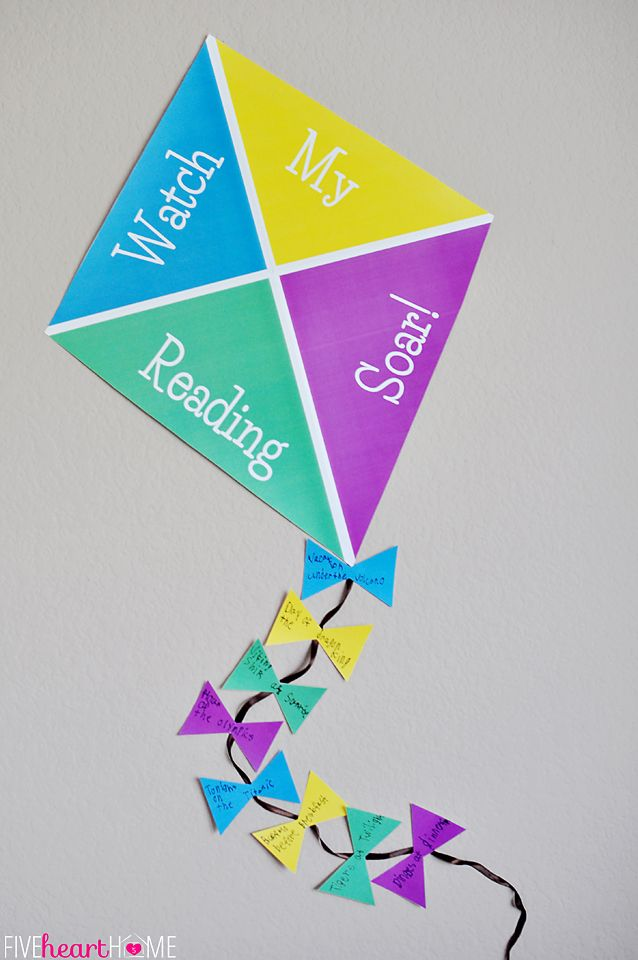{Watch My Reading Soar!} Kite-Themed Summer Reading Incentive Program  |  {Five Heart Home}