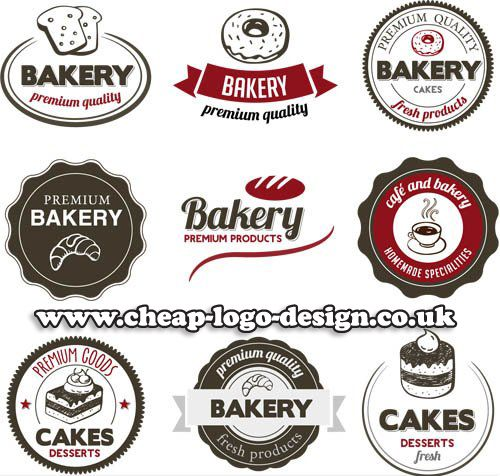 bakery and cake logos and label ideas www.cheap-logo-design.co.uk #bakerylogo #cakelabel #bakinglogos