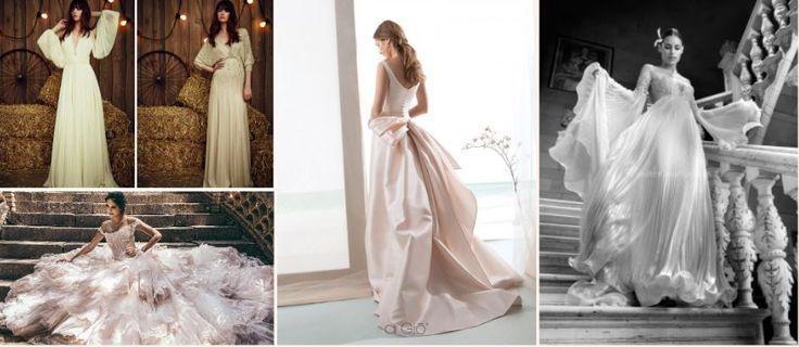 Scopriamo i 10 trend per gli abiti da sposa del prossimo anno: romantici, fioriti, scollati, voluminosi e sbarazzini, con mantelli fiabeschi o fioriti.