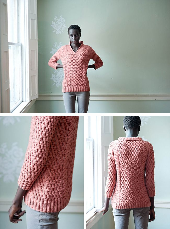 Bonus Favorite: Speaking of cables … // honeymaker aran sweater knitting pattern by leah thibault