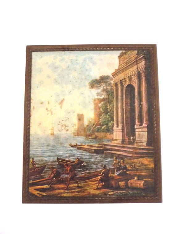 Vintage Tin Box with Historic Work of Art on the Lid