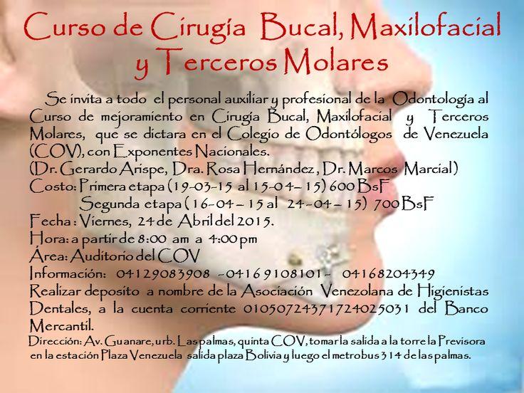 Evento Salud: Asociación Venezolana de Higienistas Dentales dictará curso de Cirugía Bucal, Maxilofacial y Terceros Molares