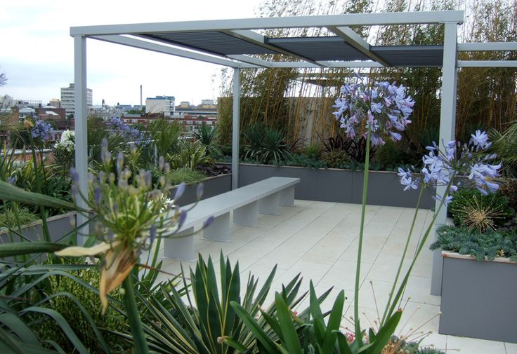 Contemporary Roof Garden Design Project In London - Philip Nash Design