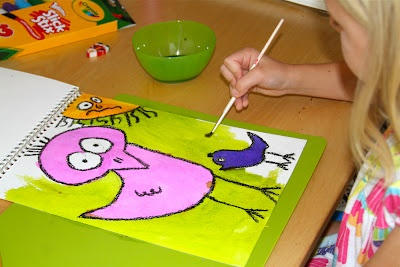 Holly's Arts and Crafts Corner: 2012: Project 4: James Rizzi-Inspired Birds (Bird Art Camp)
