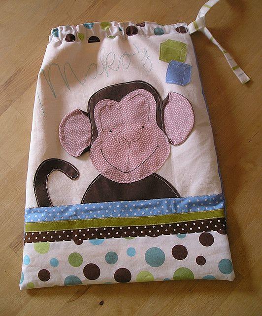 Monkey string bag for blocks