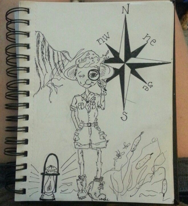#explorer #scout #compass # ink #pen #sketch #doodle #illustration