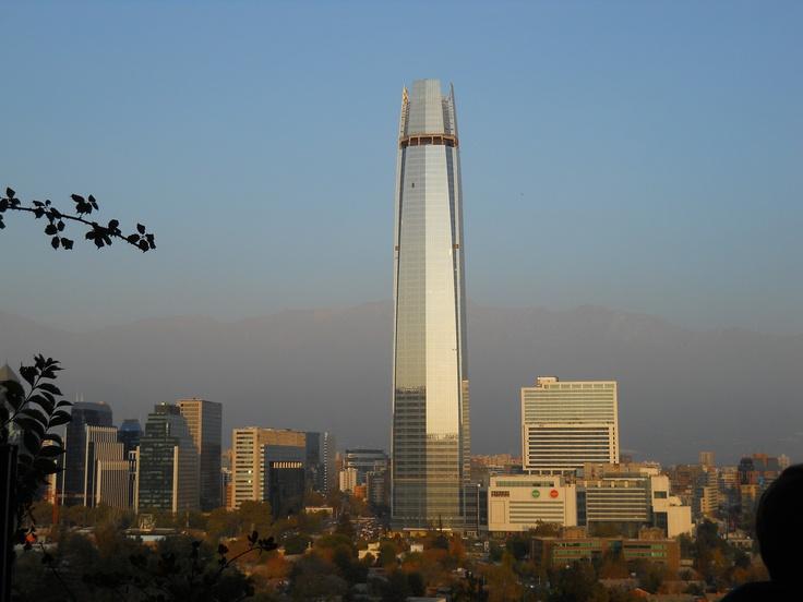 * Vista del Costanera Center desde el Cerro San Cristóbal, Santiago