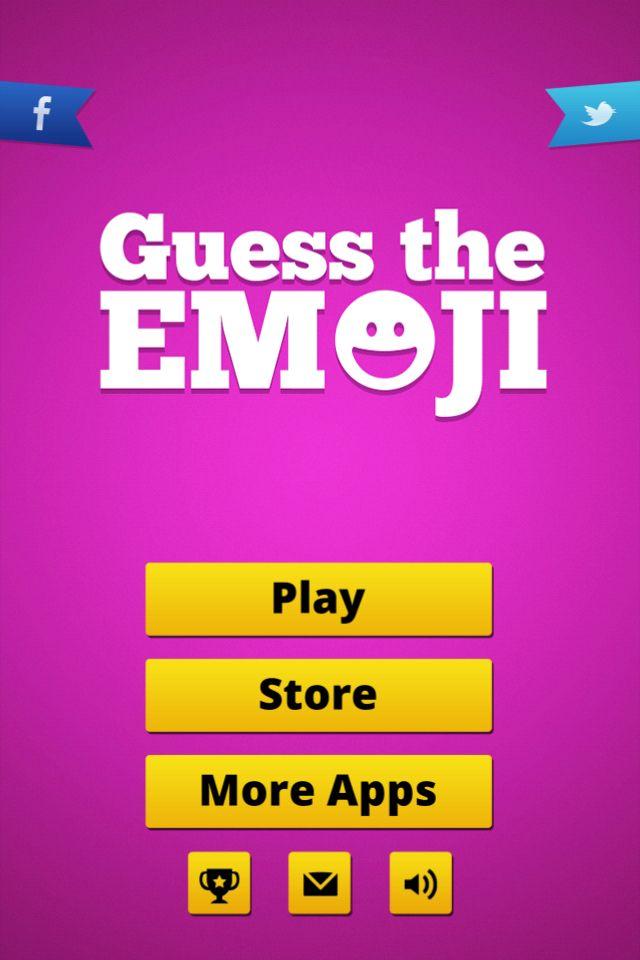 The home screen guess the emoji