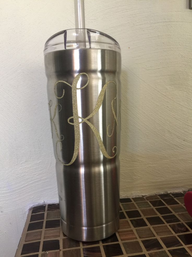A personal favorite from my Etsy shop https://www.etsy.com/listing/480106445/monogram-bubba-tumbler