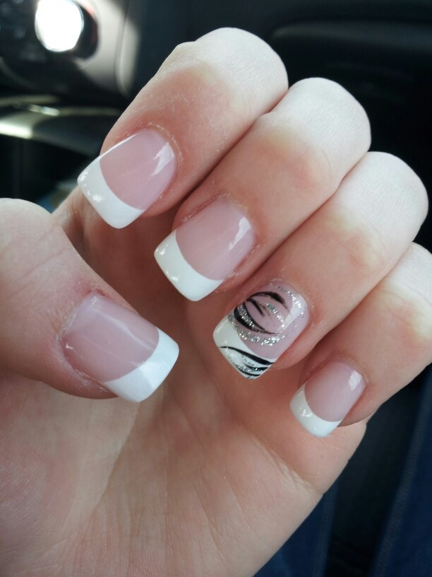 prom nails but teal instead of black prom pinterest