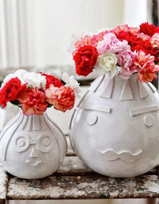 Pot-Pourri da Karen: 4 vasos de flores inusitados - 4 unusual flower pots