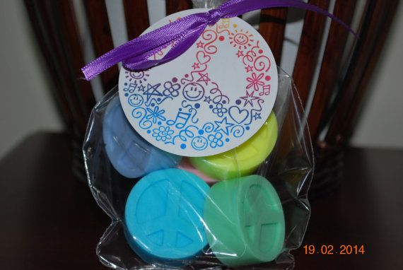Peace Sign Soap Set Each set includes 5 by SweetandSouthernDesi, $3.75